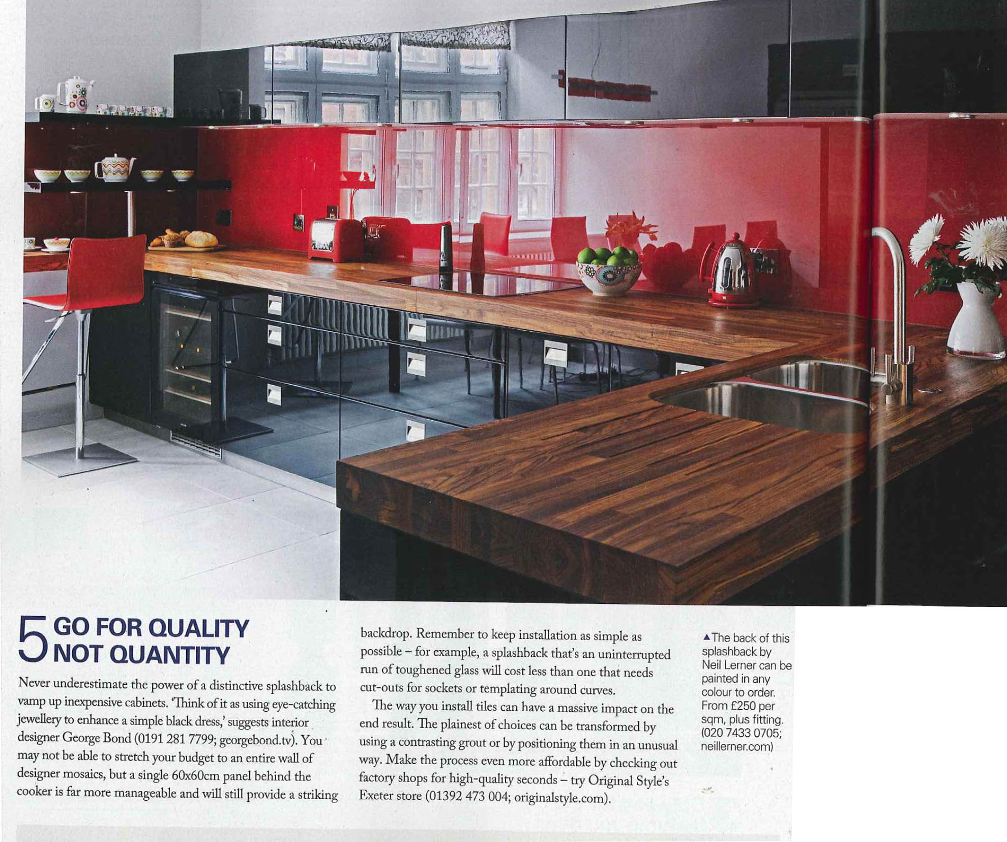 New Modern Kitchens At Neil Lerner: Add Some Flash With A Splash (back)