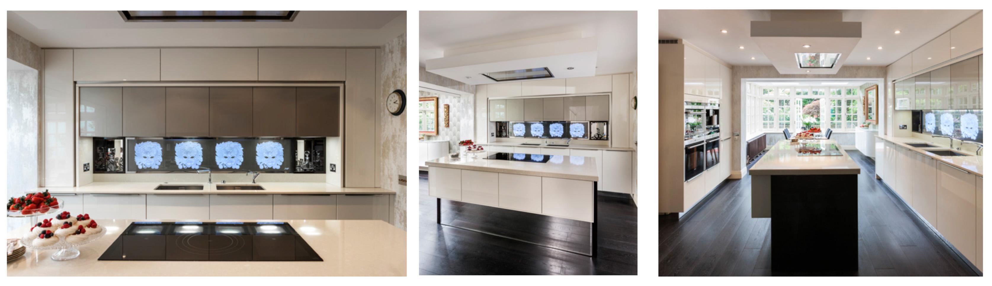 The magic behind the masks neil lerner designs for Modern art deco kitchen design