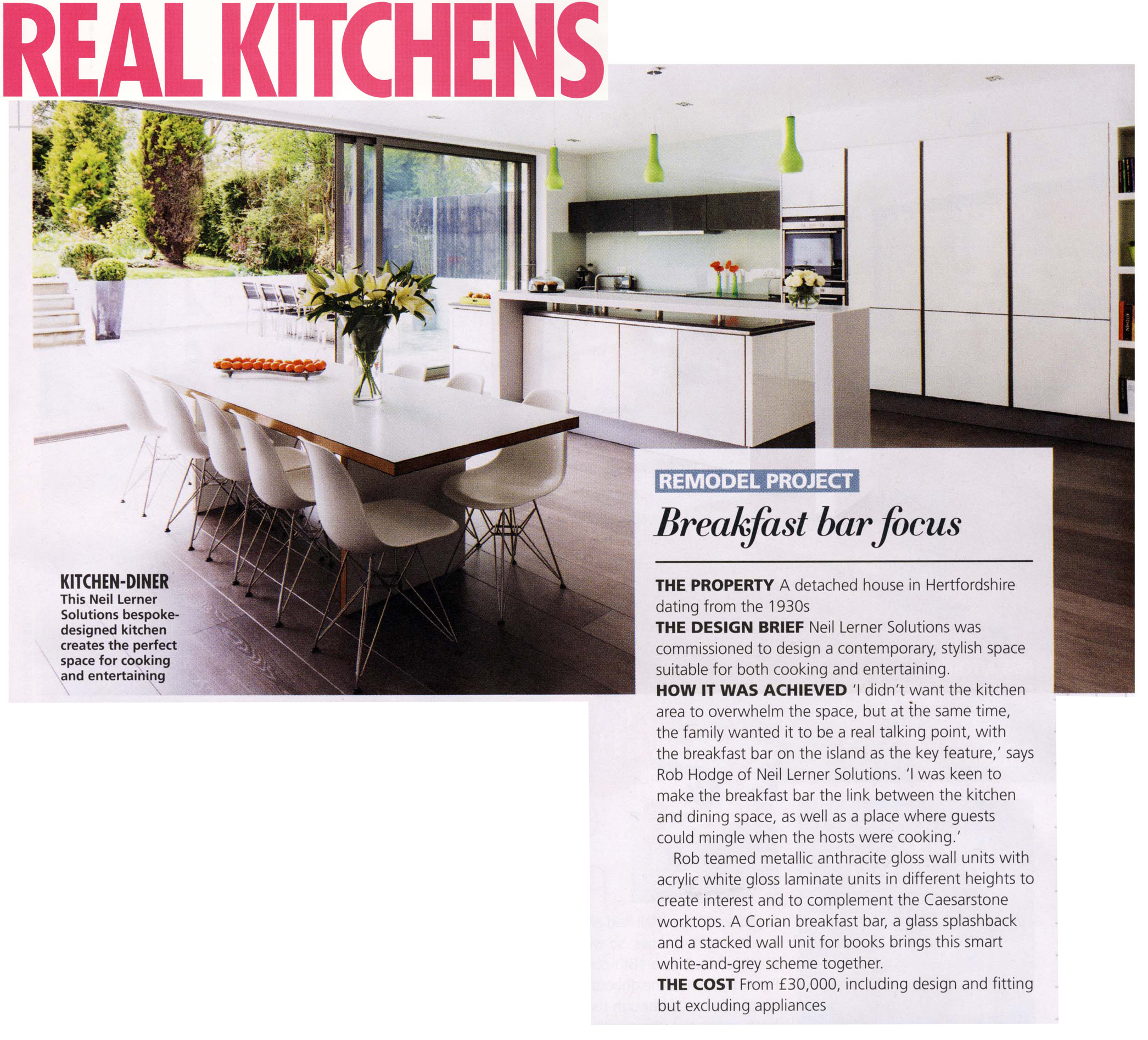 New Modern Kitchens At Neil Lerner: The Beauty Of The Breakfast Bar