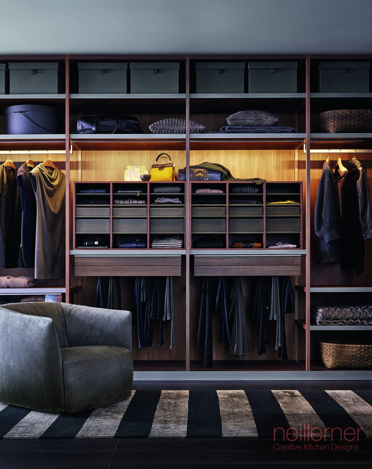 Walk-in wardrobes designed for you